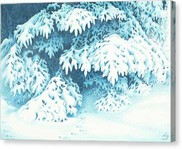 Blue Canvas Print by Elizabeth Dobbs
