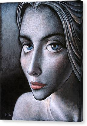 Blue Eyes Canvas Print by Ilir Pojani