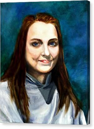 Blue Eyes Canvas Print by Joan Mace