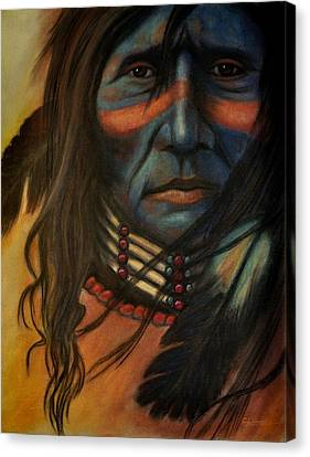 Blue Face Canvas Print