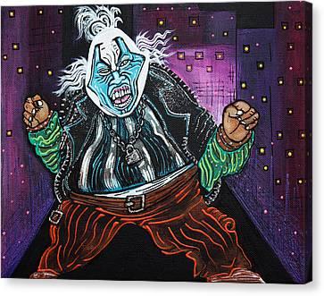 Blue Faced Clown Canvas Print by Laura Barbosa