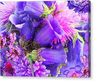 Blue Fairy Bells Canvas Print by Alixandra Mullins