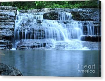 Blue Falls Canvas Print