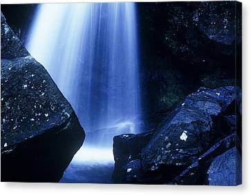 Canvas Print featuring the photograph Blue Falls by Rodney Lee Williams
