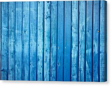 Blue Fence Canvas Print