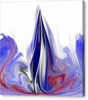 Blue Flame Canvas Print by rd Erickson