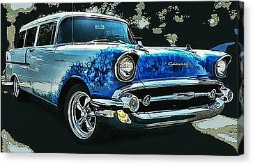 Blue Flames '57 Canvas Print