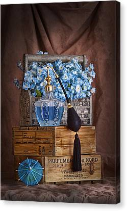 Blue Flower Still Life Canvas Print by Tom Mc Nemar