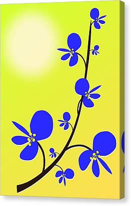 Style Canvas Print - Blue Flowers by Anastasiya Malakhova