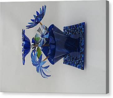Blue Flowers Canvas Print by Steven Schramek