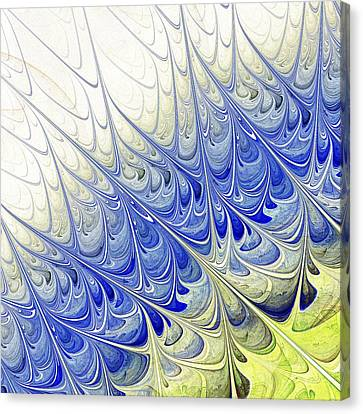 Blue Folium Canvas Print by Anastasiya Malakhova