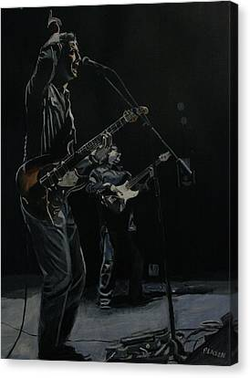Blue For The Blues Canvas Print by Patricio Lazen