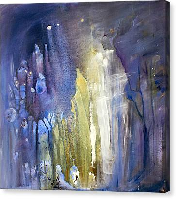 Blue Forest  Canvas Print by Tanya Byrd