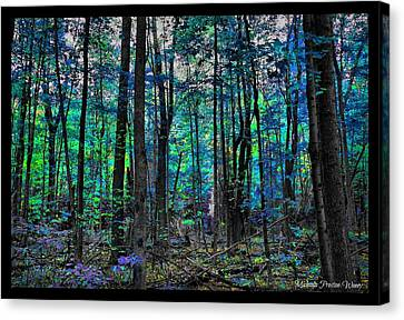 Canvas Print featuring the photograph Blue Forrest by Michaela Preston