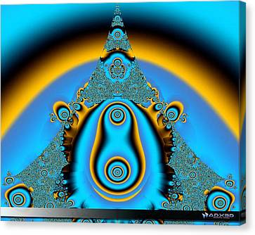 Blue Fractal 01 Canvas Print