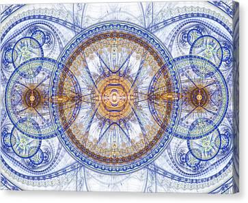 Blue Fractal Inception  Canvas Print by Martin Capek