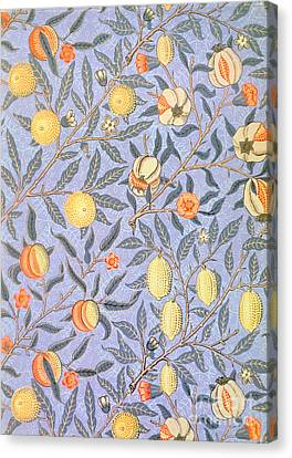Pattern Canvas Print - Blue Fruit by William Morris