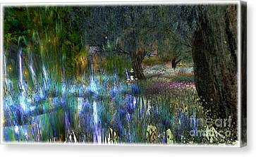 Blue Garden Canvas Print by Susanne Baumann