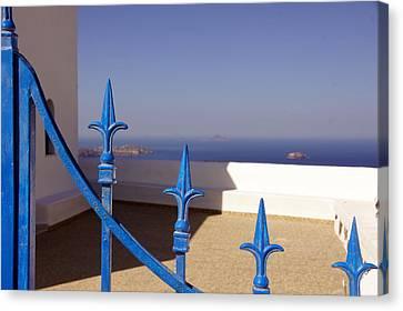 Blue Gate Canvas Print