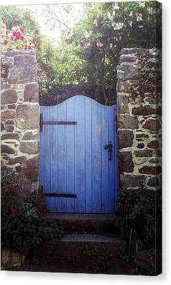 Gate Canvas Print - Blue Gate by Joana Kruse