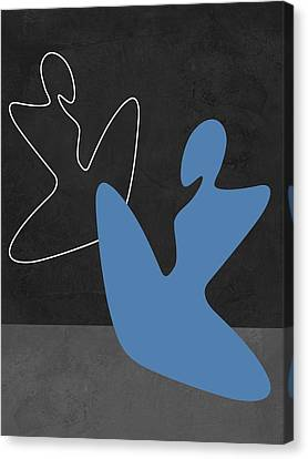Love Making Canvas Print - Blue Girl by Naxart Studio