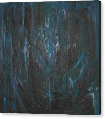 Blue Glass Canvas Print by Wayne Carlisi