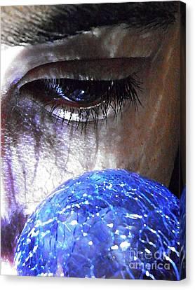 Blue Glass World Canvas Print by Sarah Loft