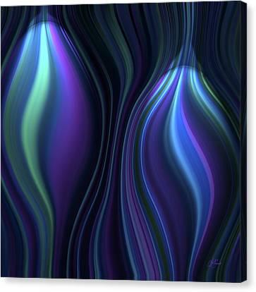 Blue Globes Canvas Print by Lori Grimmett