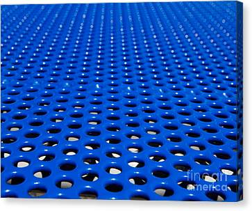 Meshed Canvas Print - Blue Grate by Robert Keenan