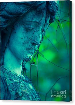 Blue Green Angel Canvas Print by Sonja Quintero