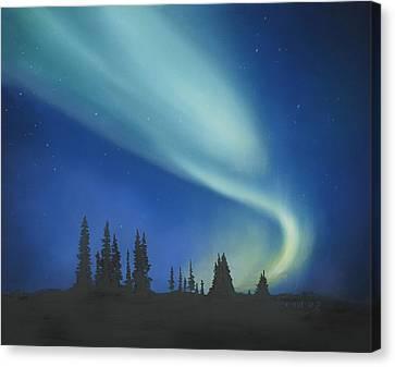 Blue Green Aurora Borealis Canvas Print