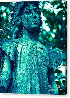 Blue Green Cemetery Canvas Print