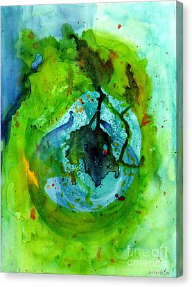 Blue Green Ether Canvas Print by Mukta Gupta