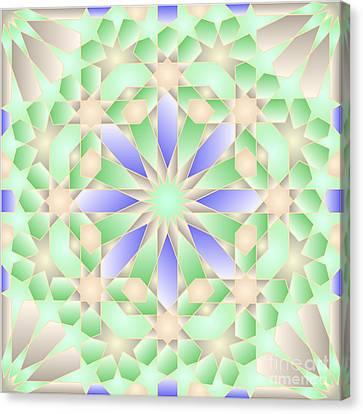 The Nature Center Canvas Print - Blue Green Tile Wpiia69 Precessed by Cam Macfarlane