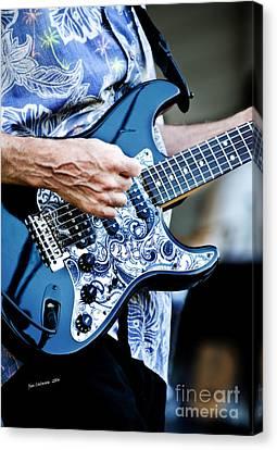 Blue Guitar Canvas Print