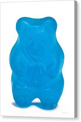 Blue Gummy Bear Canvas Print by Iris Richardson