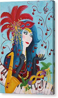 Blue Haired Lady Canvas Print