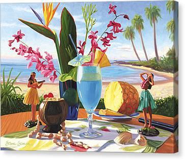 Blue Hawaiian Canvas Print by Steve Simon