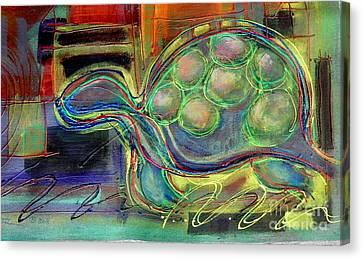 Blue Hawain Turtle Canvas Print
