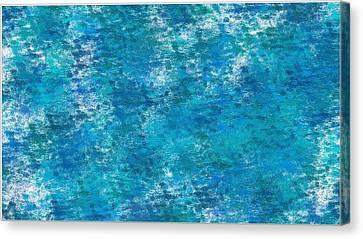 Canvas Print featuring the digital art Blue Haze... by Tim Fillingim