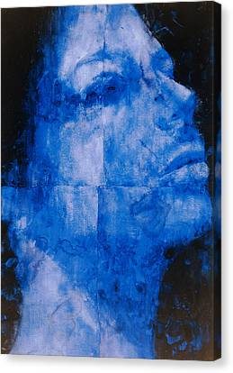 Blue Head Canvas Print by Graham Dean