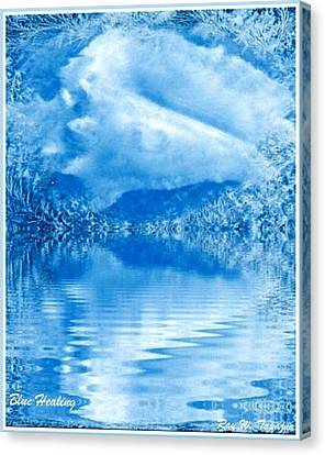 Blue Healing Canvas Print by Ray Tapajna