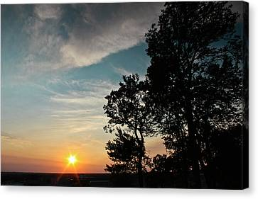 Blue Heaven Sunset Canvas Print by Julie Andel