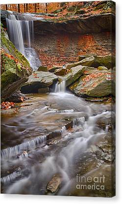 Blue Hen Falls Canvas Print by Joshua Clark