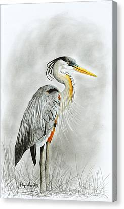 Blue Heron 3 Canvas Print