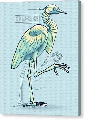 Blue Heron 3000 Canvas Print