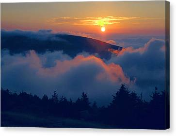 Blue Hill Sunset - Acadia Canvas Print by Stephen  Vecchiotti