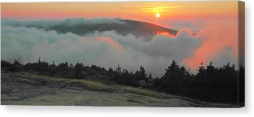 Blue Hill Sunset Canvas Print by Stephen  Vecchiotti