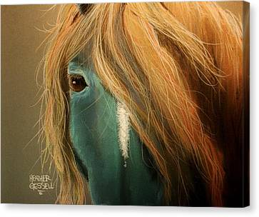 Blue Horse Canvas Print by Heather Gessell