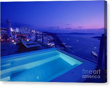 Blue Hour Canvas Print by Aiolos Greek Collections
